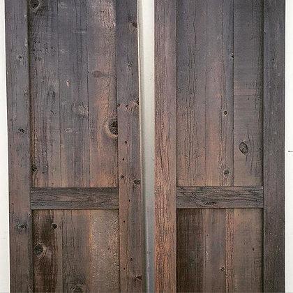 Rustic Redwood barn door