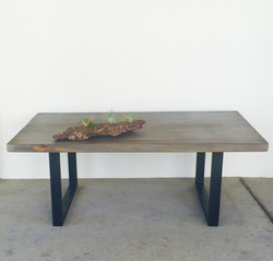 reclaimed weathered gray table