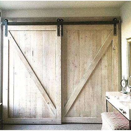 White rustic Barn Door