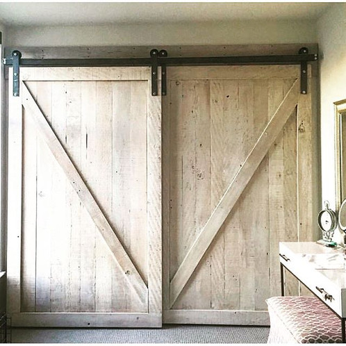 Reclaimed Douglas Fir White Washed Barn Door Single Or Double Your House Will Never Be The Same As Before Handmade In San Francisco Bay Area Using 100