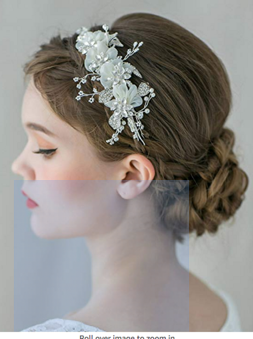 SWEETV Flower Bridal Headband