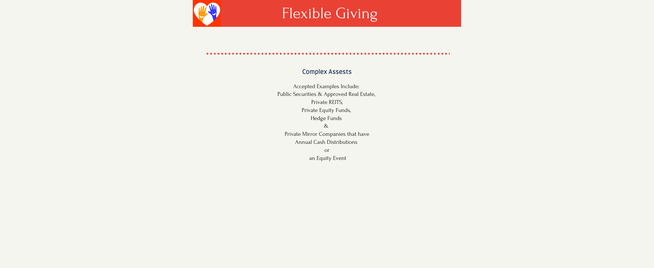 Copy of Copy of Flexible Giving