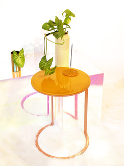 """Cassie"" Ottan Side Tables from Expired Lentils"