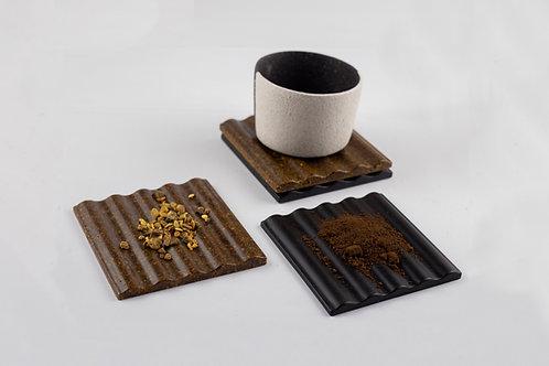 """LaLaLa"" Coffee-Orange Coaster Set"