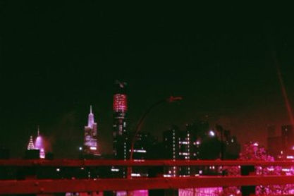 photo of a city pink aesthetic