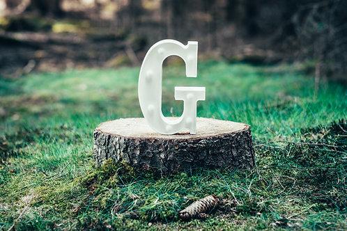 LED písmeno G