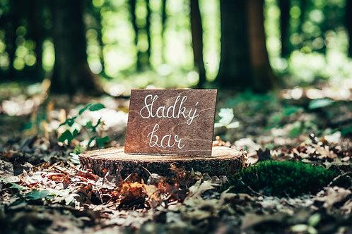Sladký bar - hnědé dřevo
