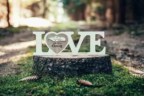 Dekorační nápis Love