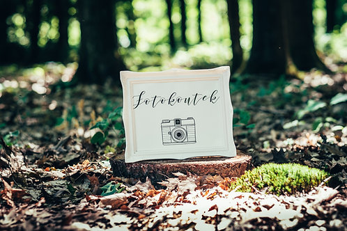 Fotokoutek - bílý rám