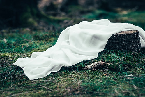 Šifonový běhoun bílý