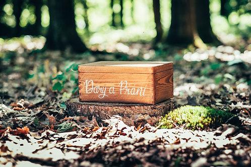 Hnědý box na dary a přání