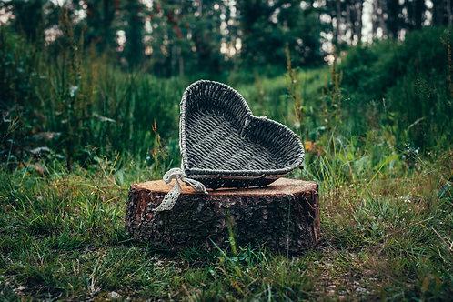 Košík na vývazky šedý