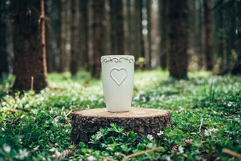 Vintage váza se srdcem