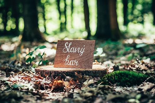 Slaný bar - hnědé dřevo