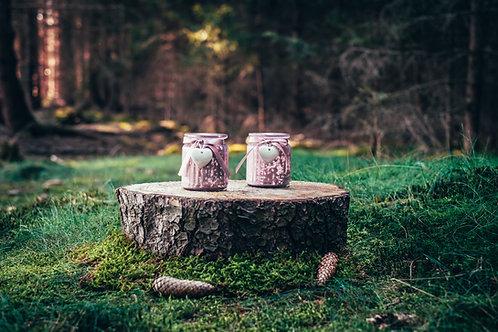 Svícen na čajovou svíčku růžový