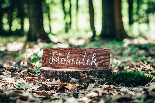 Fotokoutek - hnědé dřevo