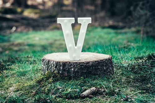 LED písmeno V