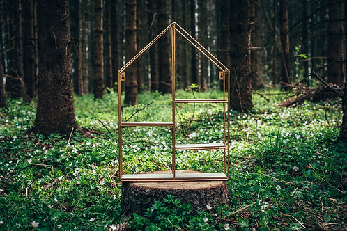 Dekorační stojan domeček