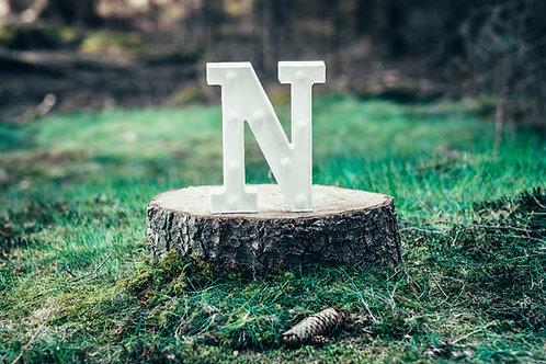 LED písmeno N