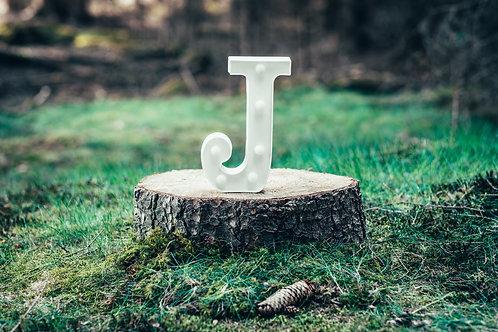 LED písmeno J