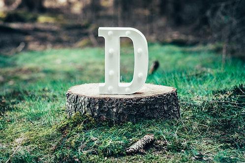 LED písmeno D