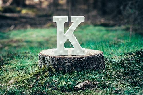 LED písmeno K