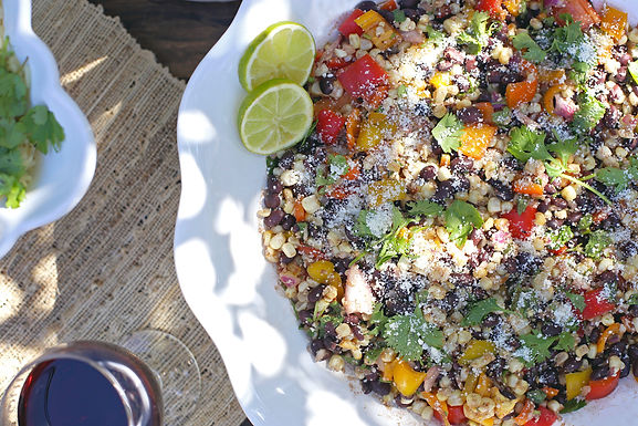 Gourmet Caterer, Adriana's Cocina, famous Mexican Grilled Corn Salad