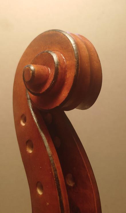 Scroll on my latest violin