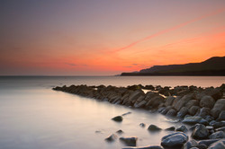 Sunset at Kimmeridge Bay