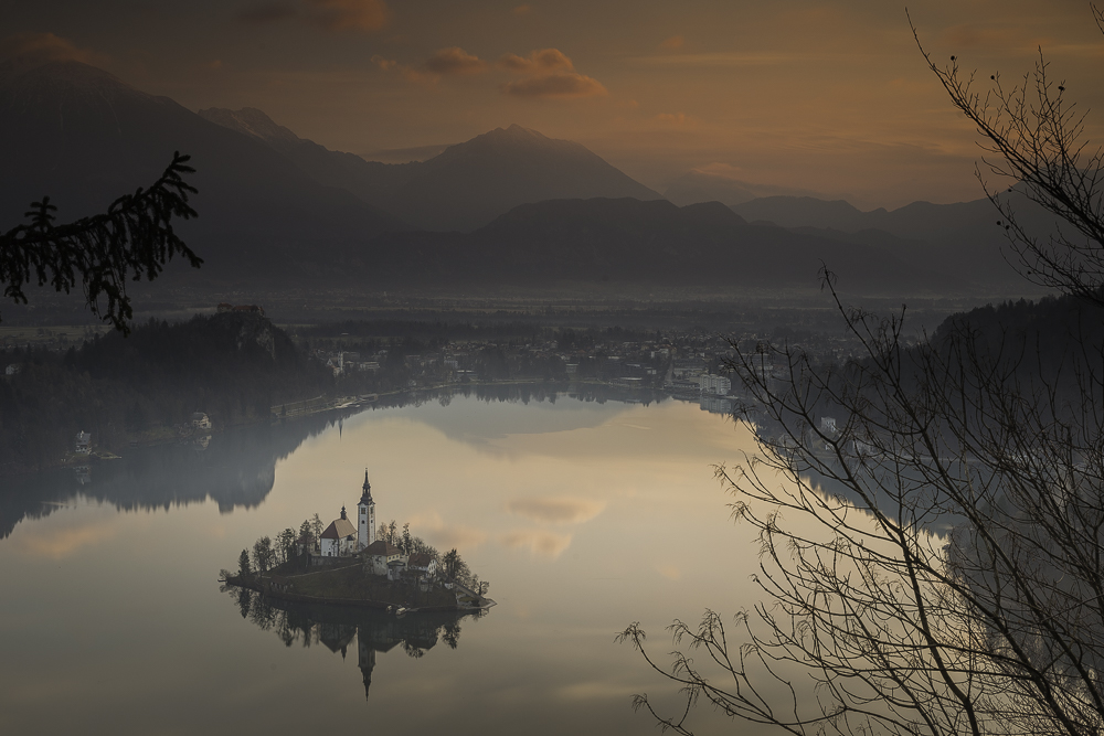 Dawn - Lake Bled