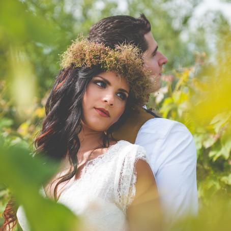 """Mariage & Rêve /Shooting Inspiration """"Nature So Chic"""" Article publié par""""La Mariée Enjouée"""":"""