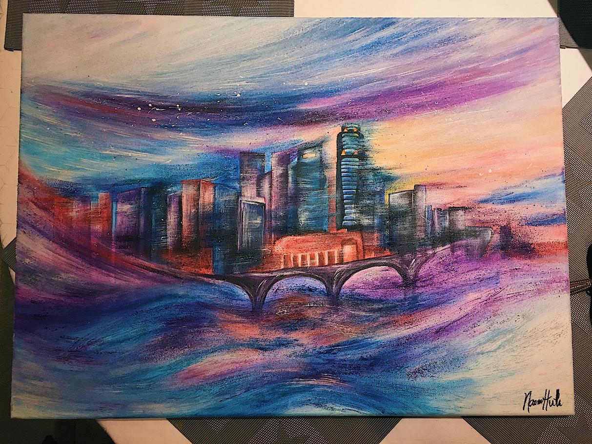 Singapore Skyline Abstract