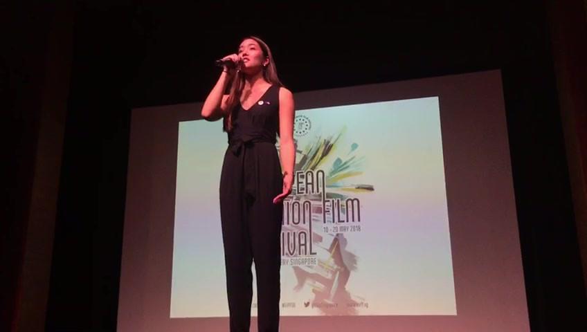 Emceeing the European Union Film Festival 2018