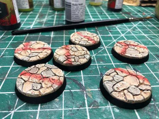 Custom Sandstone Miniature Bases