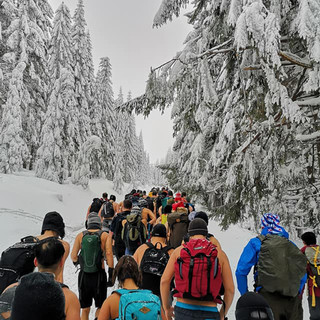 Climbing Mount Snēžka