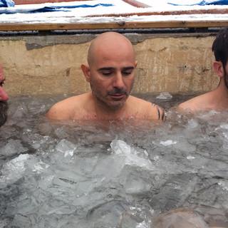 First Ice Bath with Wim Hof