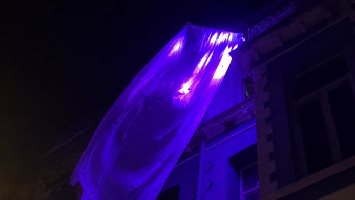 light enstallation 4:30 minute looping cue set.  led light plastic programming