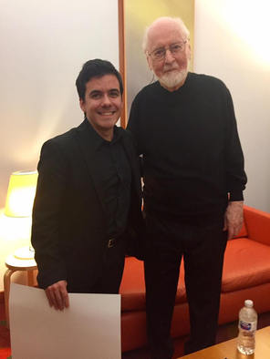 with John Williams at the Walt Disney Hall