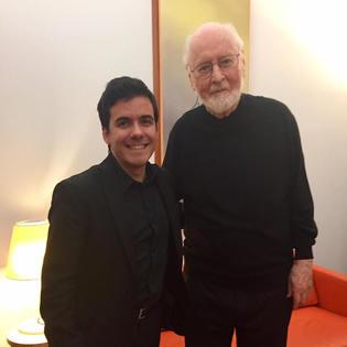 with John Williams at the Walt Disney Hall