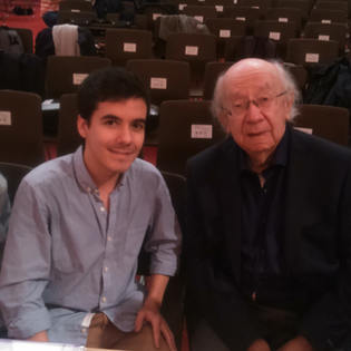 with G. Rozhdestvensky at the Gstaad Conducting Academy