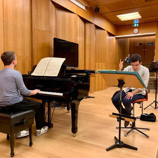 Rehearsing with B. Chamayou for B. Attahir new piano concerto