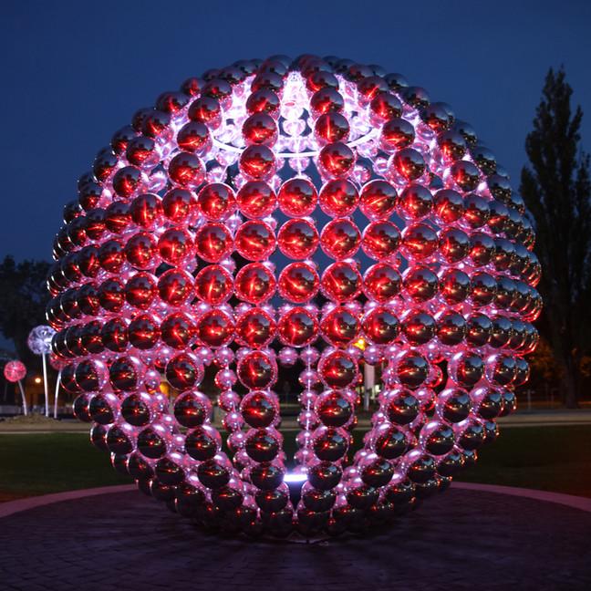 Globe Sphere is installed in Krakow.
