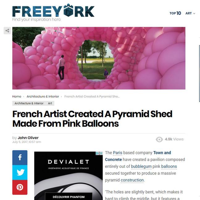FREEYORK / Pink Pyramid
