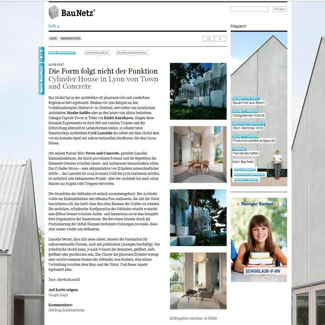 House cylinder on Baunetz