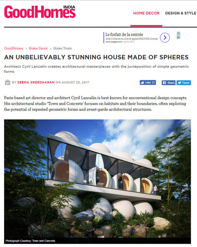 """House """"spheres"""" in GoodHomes India"""