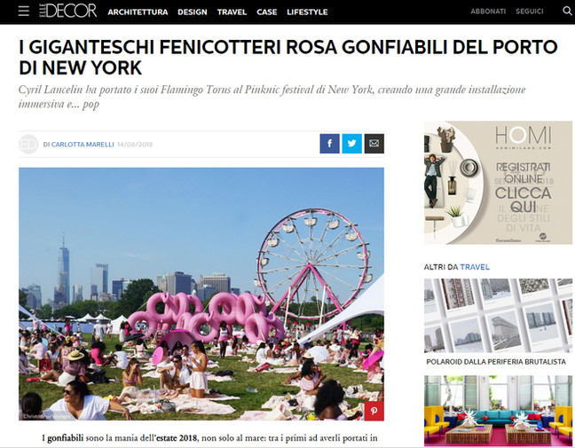 Elle Decor Italia published Flaming Torus