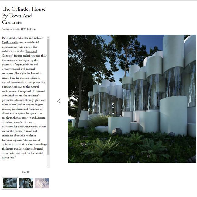 House Cylinder published on Ignant