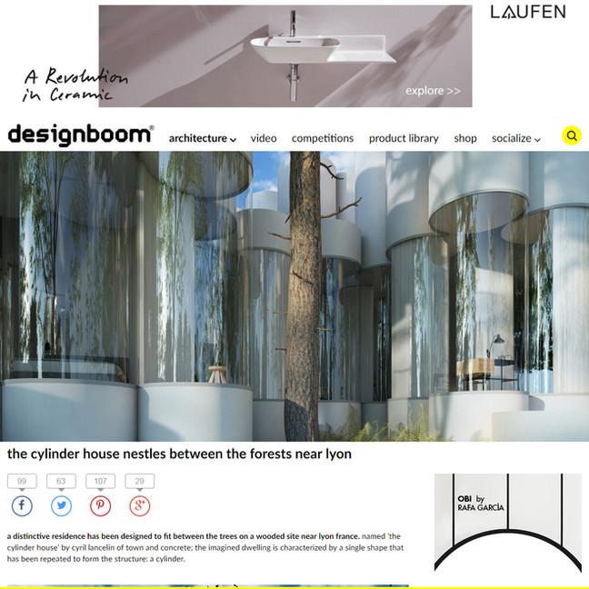 House Cylinder on Designboom