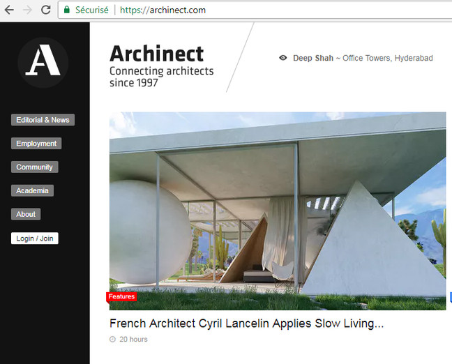 Interview on Archinect