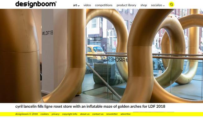 """Arches"" in London in Designboom"